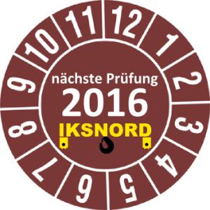 Plakette 2016